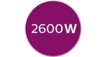 Moc 2600 W — szybkie nagrzewanie żelazka