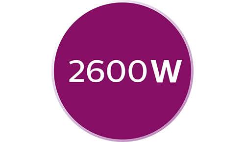 2600W für schnelles Aufheizen des Bügeleisens