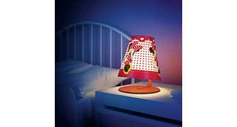 Ihanteellinen valaisin lapsen pöydälle tai sängyn viereen