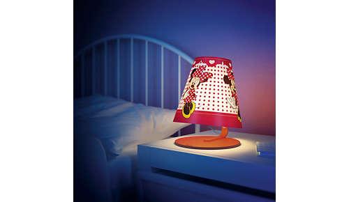 Perfect voor op het nachtkastje of bureau van uw kind