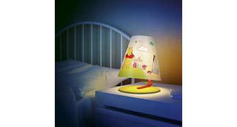 Ideálne svietidlo na stôl alebo nočný stolík vášho dieťaťa