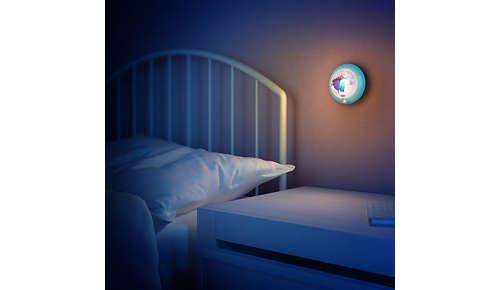 Om uw kind 's nachts gerust te stellen