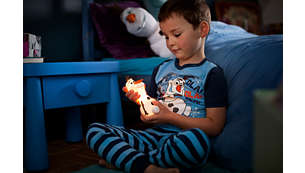 Accompanies your child at night