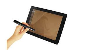 Lápiz conductor integrado para uso en todas las tabletas