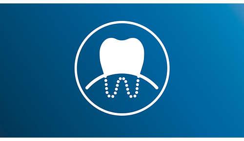 Plus efficace contre les gingivites qu'une brosse à dents manuelle