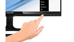 Controles táctiles modernos que complementan el diseño