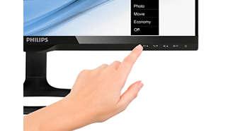 Touches tactiles parfaitement adaptées au design moderne