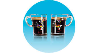 2 tasses SENSEO® avec motifs Romero Britto incluses