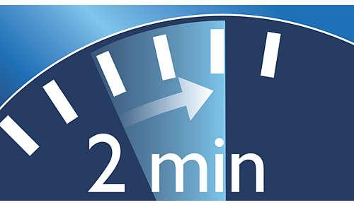 La fonction Smartimer vous aide à respecter le temps de brossage recommandé