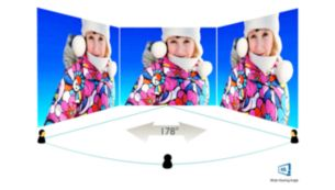 MVA Display for wide viewing angles and deep contrast levels