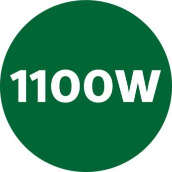 Powerful 1100W power