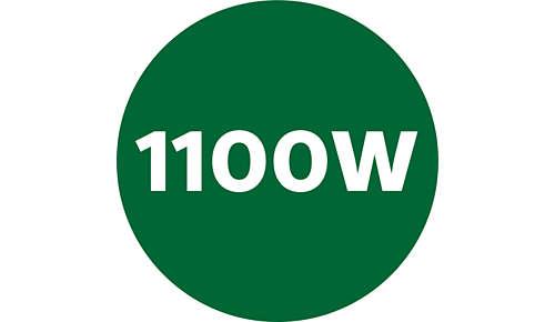 Gran potencia de 1100W