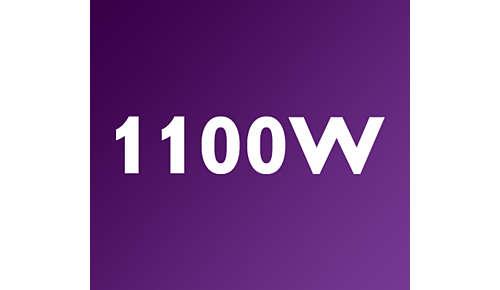 Krachtig vermogen van 1100 W