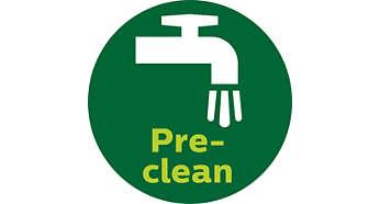 Função de pré-limpeza elimina as fibras indesejadas