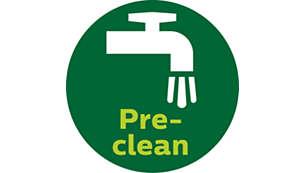 تنظيف الألياف غير المرغوب بها بفضل وظيفة التنظيف المسبق