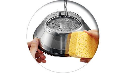 Limpia con facilidad las fibras de la suave superficie del tamiz