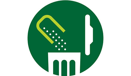 All pulp collected in one place for easy disposal