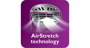 Technologia AirStretch zapewniająca lepsze efekty prasowania za jednym pociągnięciem