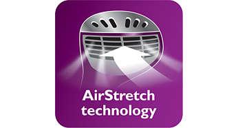 Công nghệ đầu hút AirStretch cho hiệu quả ủi tốt hơn chỉ trong một lần ủi