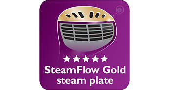 SmartFlow Gold steam plate for great results