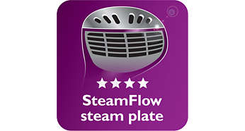 SmartFlow heated steam plate for great results