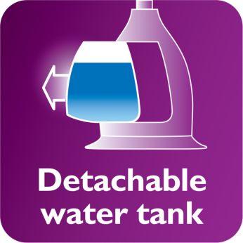 Ngăn chứa nước trong suốt có thể tháo rời với cửa tiếp nước hợp vệ sinh