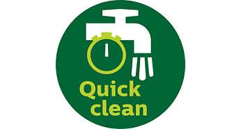 QuickClean-technologie met gepolijste zeef