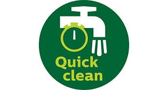 QuickClean technology with polished sieve