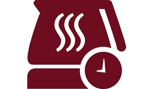 Instelbare warmhoudtijd van 30 minuten tot 2 uur