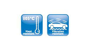 High vibration and temperature resistant