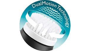 DualMotion technology: vibrating & rotating brush