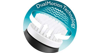 DualMotion technology: vibrating & rotating brush