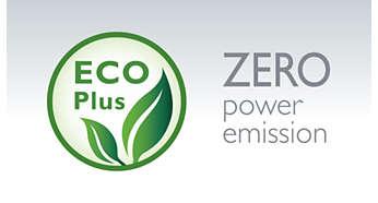Emissão de zero energia quando o modo ECO+ está activado