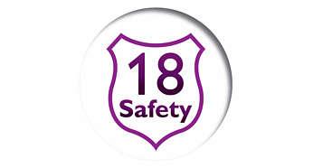 18 道安全防護,放心烹飪,無後顧之憂