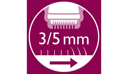 2 Kammaufsätze im Lieferumfang enthalten, zum Kürzen der Haare auf genau 3/5mm.