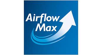 Edistyksellinen AirflowMax-tekniikka takaa erinomaisen suorituskyvyn