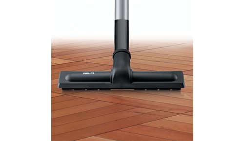 Mondstuk voor optimale reiniging van alle harde vloeren