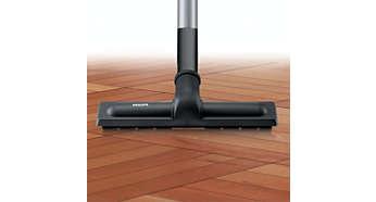 Brosse offrant un nettoyage optimal sur tous les sols durs