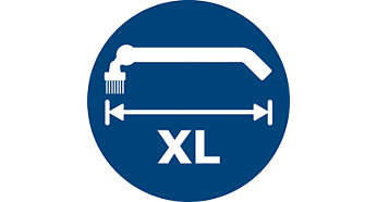 Long reach tool for difficult to access areas