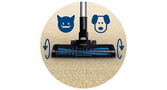 Turbo-borstel, ideaal als u een hond of kat hebt