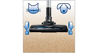Turbo brush, perfect for homes with pet hair