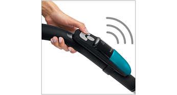 Een afstandsbediening zodat u niet hoeft te bukken, met draadloze IR-technologie