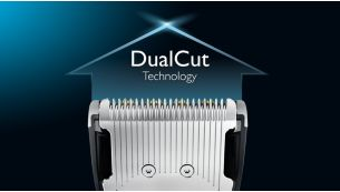 Double-sided clipper cuts twice as fast *