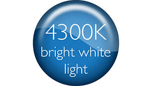 CrystalVision 4300K bright white light for style upgrade