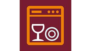 Componente uşor de utilizat, lavabile în maşina de spălat vase