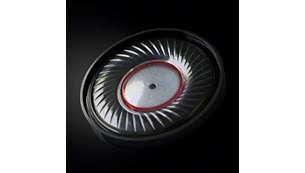 Оптимизированные 40-мм излучатели с неодимовыми магнитами для безупречно чистого звучания