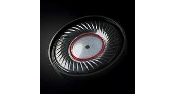 Optimerade neodymelement på 40mm för rent autentiskt ljud
