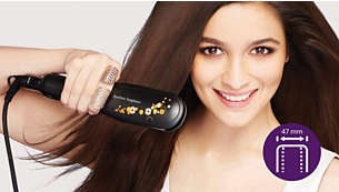 Philips Straightener with Ionic Shiny Extra wide plates for better results with thick or long hair