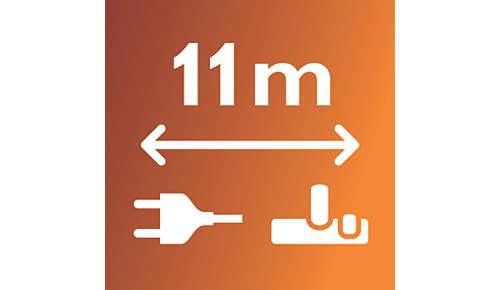 Een bereik van 11 m voor ultiem gebruiksgemak
