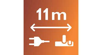 11 méteres hatókör a kényelmes takarításért